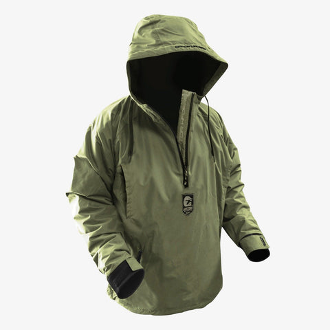 GW Hunt Waterproof 1/2 Zip Bog Hoodie - Timber Green