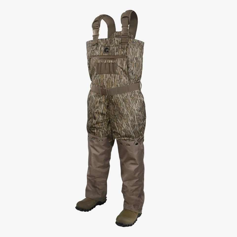 Shield Insulated Waders | Mens - Mossy Oak Bottomland Hunt Gator Waders