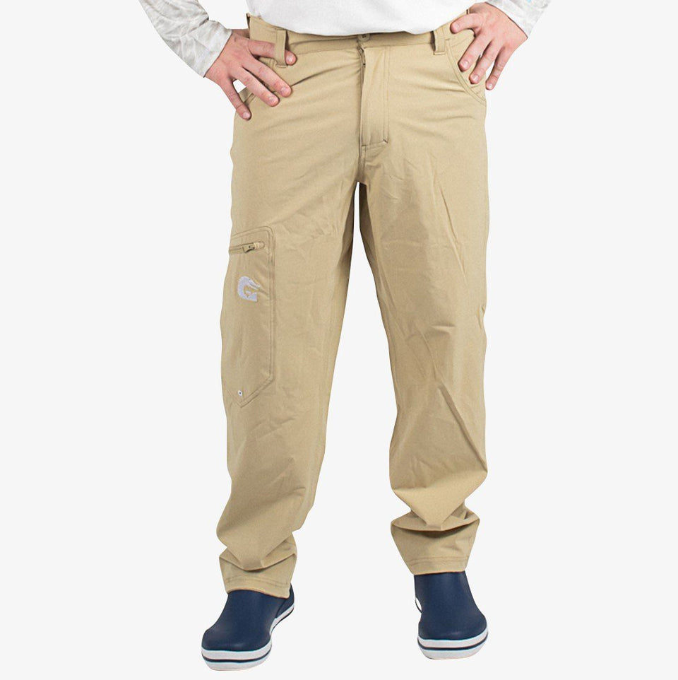 Breakline Performance Fishing Pants | Mens - Khaki Fish Gator Waders