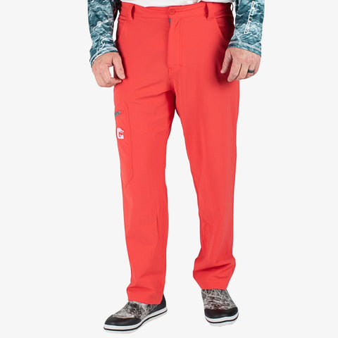 Breakline Performance Fishing Pants - Red