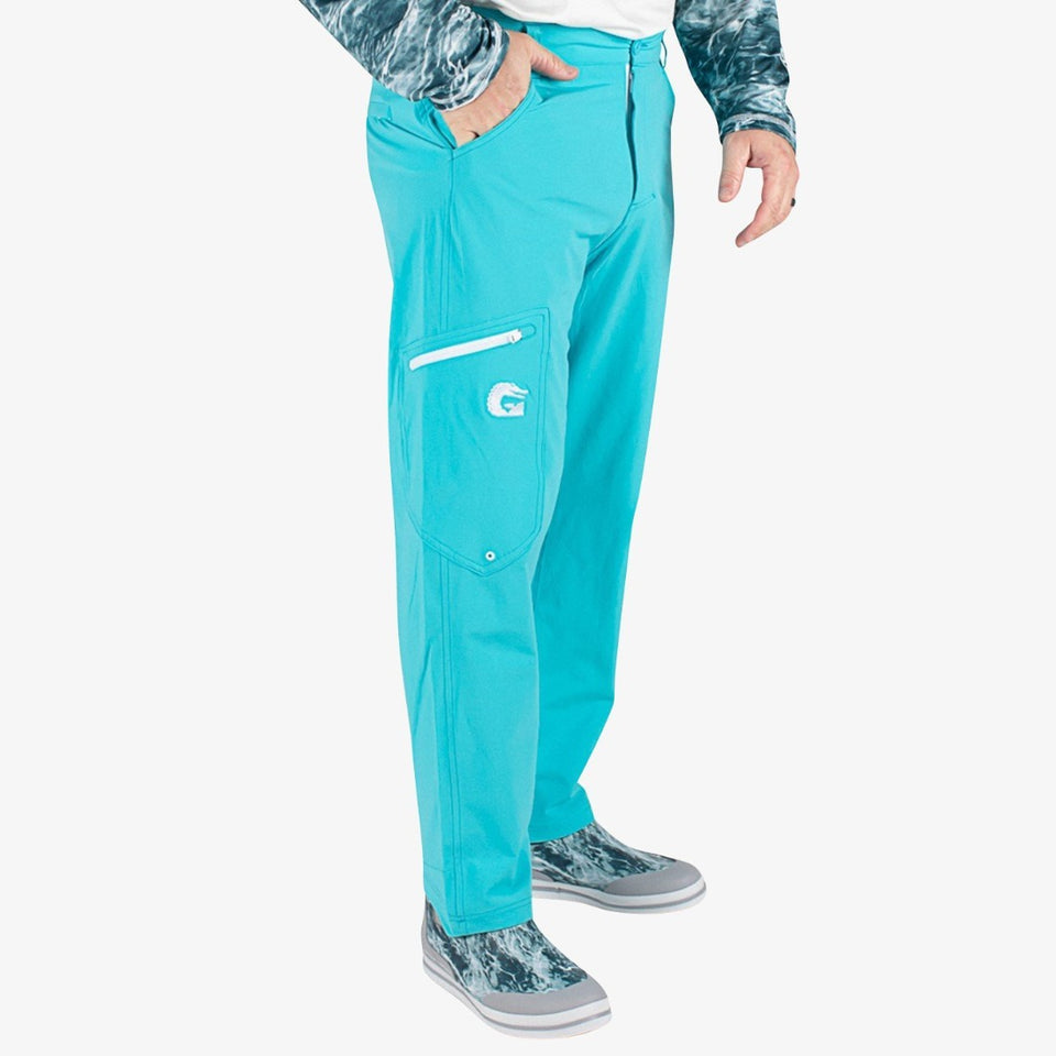 Breakline Performance Fishing Pants | Mens - Sky Blue Fish Gator Waders