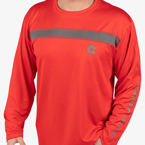 Breakline Performance Fishing Shirt - Red