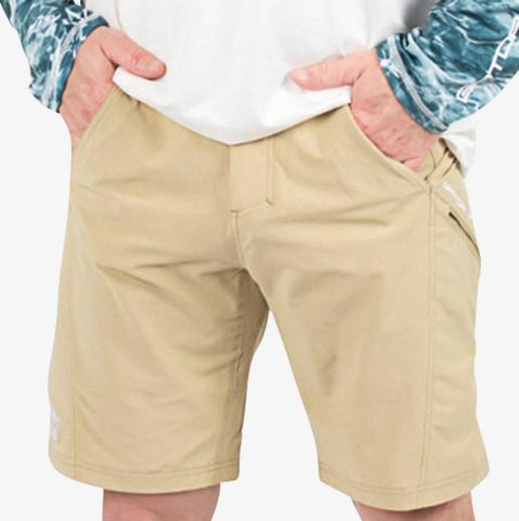 Breakline Performance Fishing Shorts - Khaki