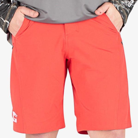 Breakline Performance Fishing Shorts | Mens - Red