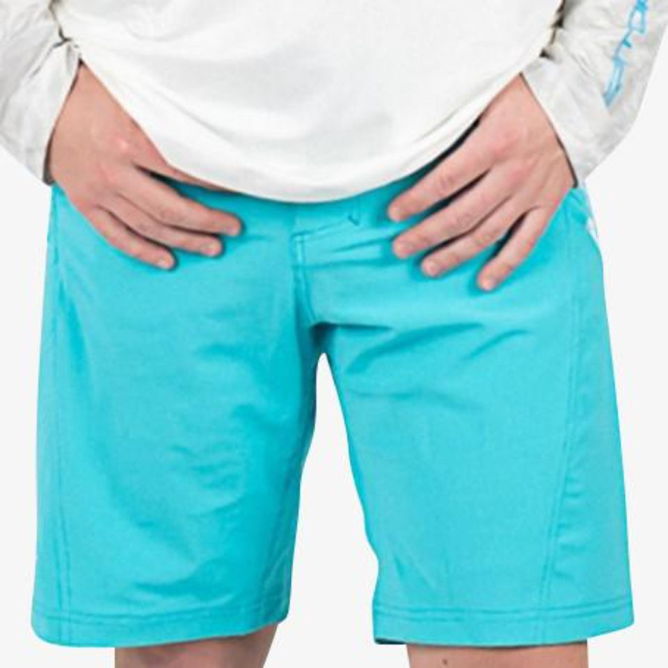 Breakline Performance Fishing Shorts | Mens - Sky Blue Fish Gator Waders