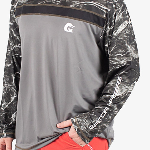Breakline Performance Fishing Shirt - Mossy Oak Blacktip