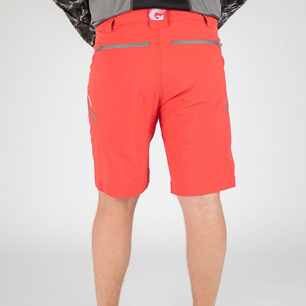 Breakline Performance Fishing Shorts - Red