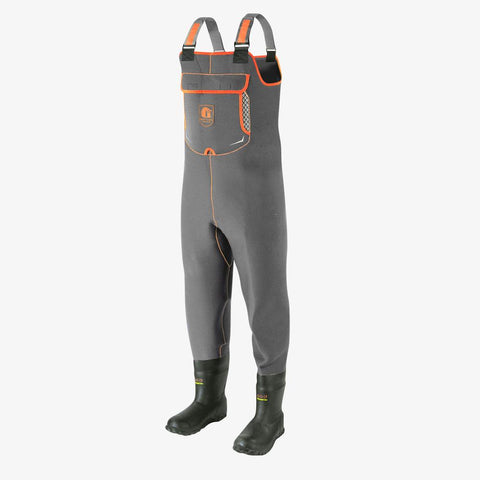 Retro Neoprene Waders | Mens - Charcoal