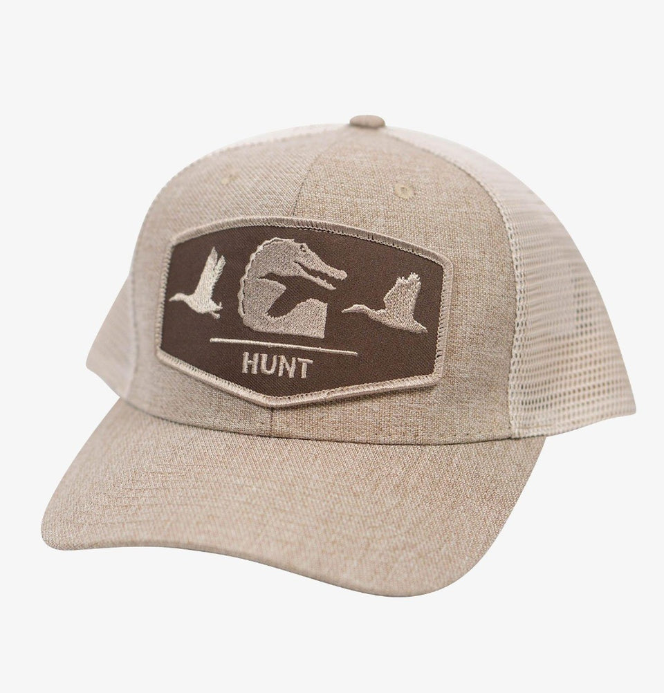 Flock Patch Hat Hunt Gator Waders
