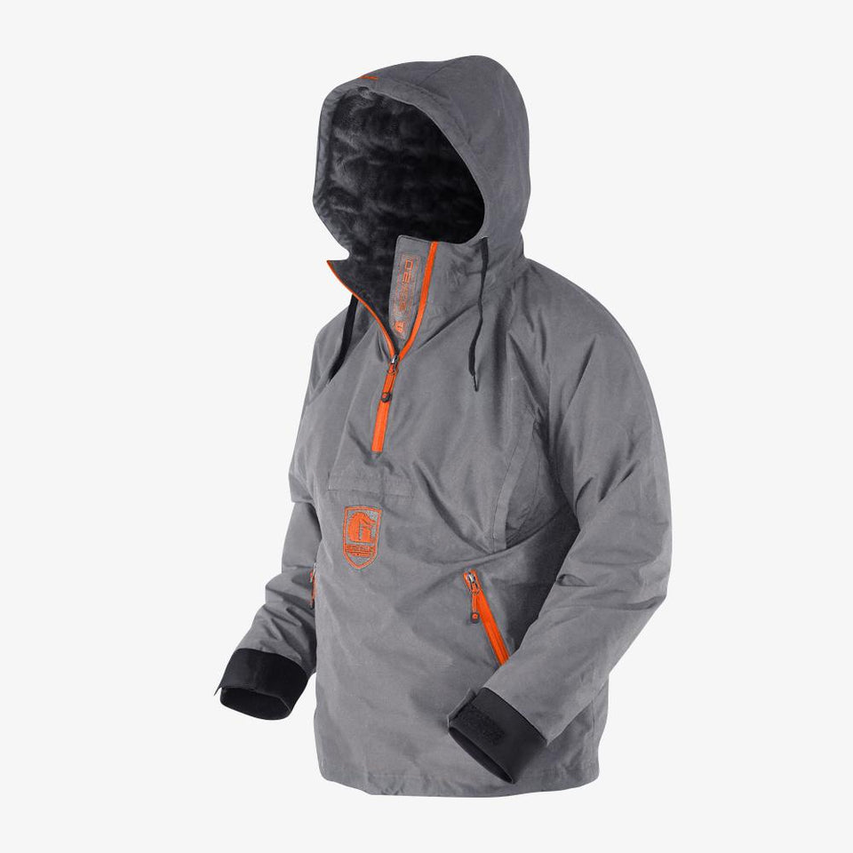 Waterproof 1/2 Zip Bog 2.0 Hoodie | Mens - Orange Offroad Gator Waders