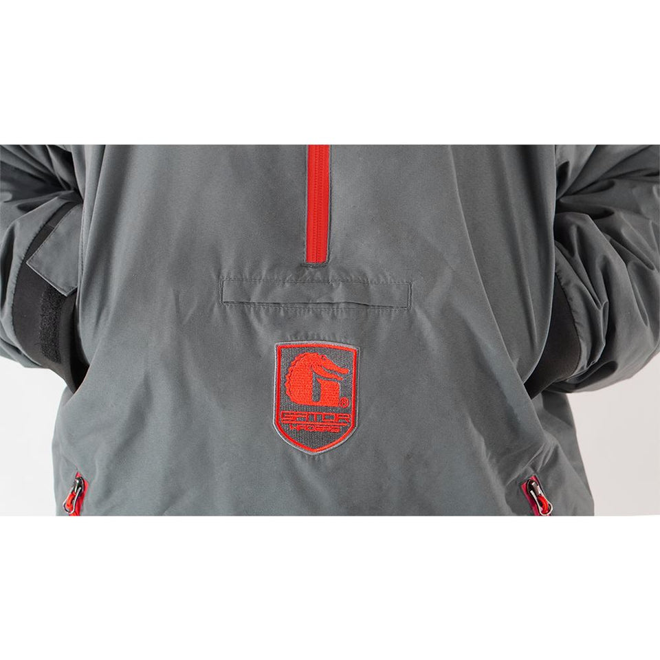 Waterproof 1/2 Zip Bog 2.0 Hoodie | Mens - Red Offroad Gator Waders