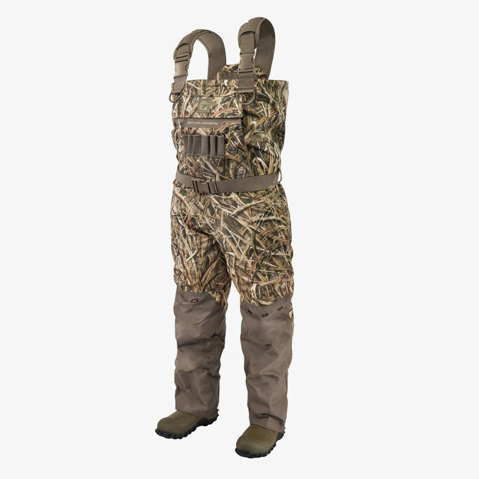 Shield Insulated Waders | Mens - Mossy Oak Shadow Grass Blades Hunt Gator Waders