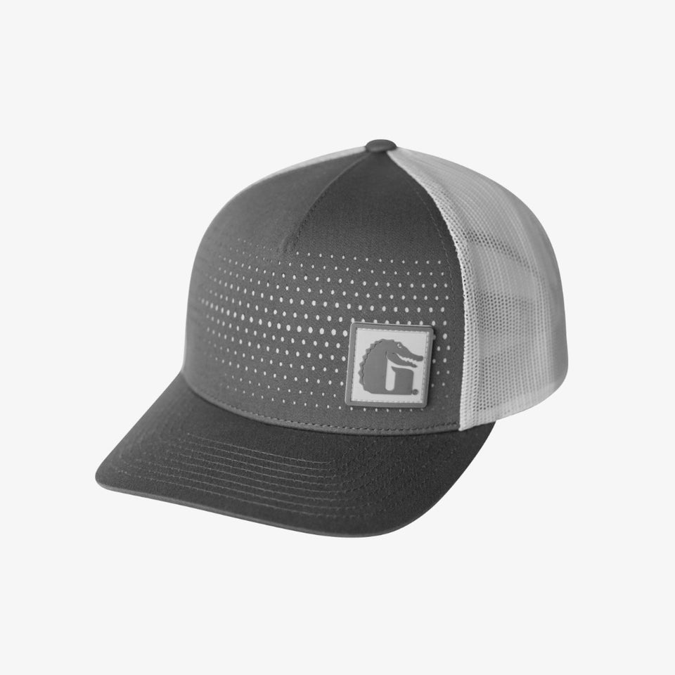 Square Patch Hat | Grey Offroad Gator Waders