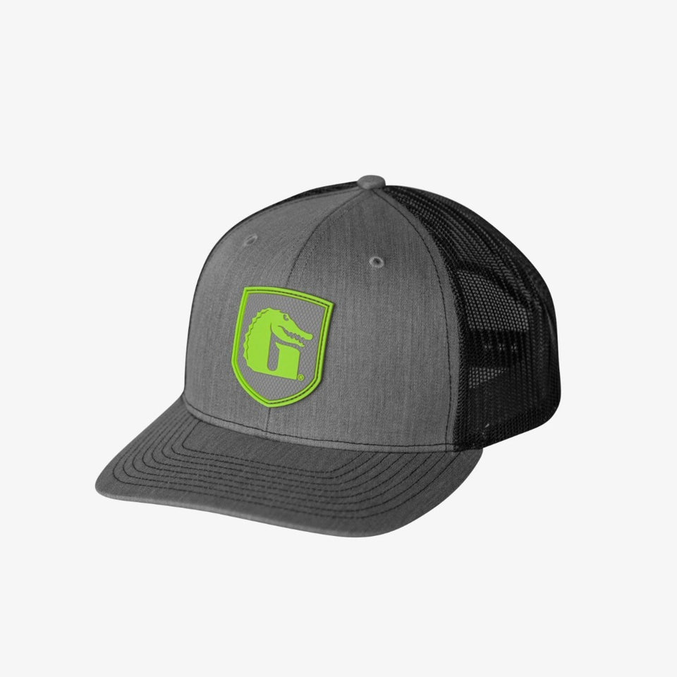 Heritage Patch Hat | Grey Offroad Gator Waders Lime