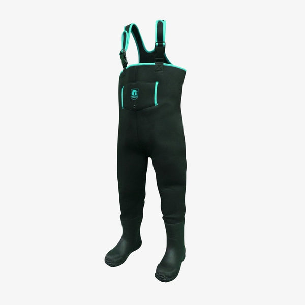 Youth Series Waders - Black / Aqua