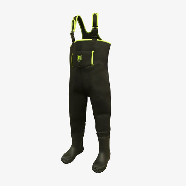 Youth Series Waders Black / Lime