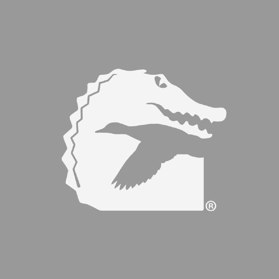12-inch Gator Waders Hunt Decal | White Hunt Gator Waders