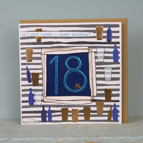 Male 18th Birthday Card