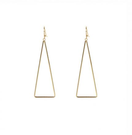 Nikoletta Simple Triangle Shape Drop Earrings Gold/Silver