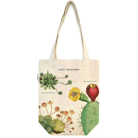Cacti & Succulents Botanical Print Tote bag