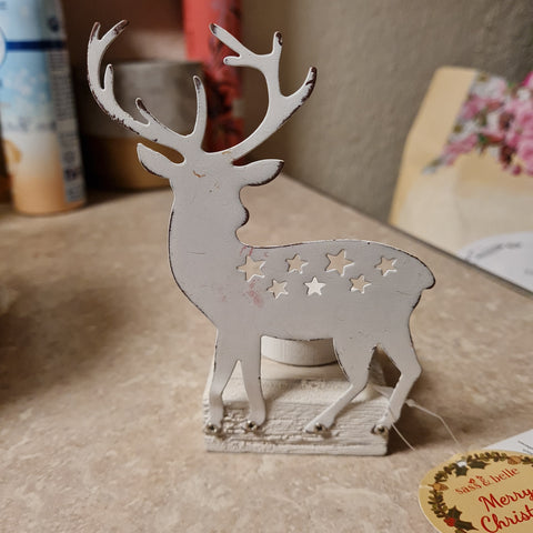 Day & night stag tealight holder