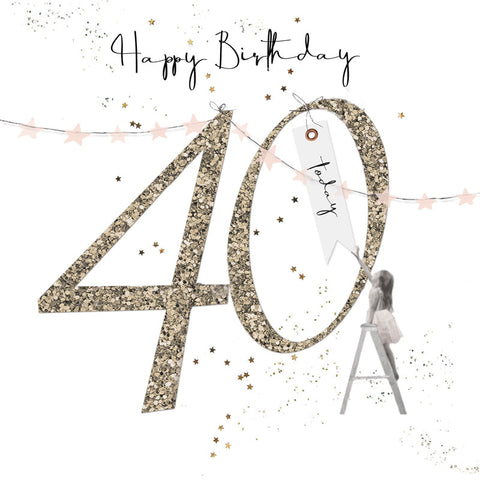 Shimmer Ladies 40th Birthday Card