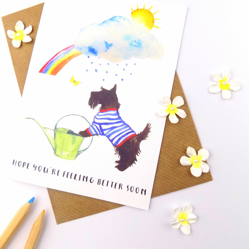 Paper Rose Hope You Feel brighter Soon//Get Well Card