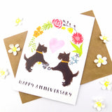 Happy Anniversary Scotty Dogs Card