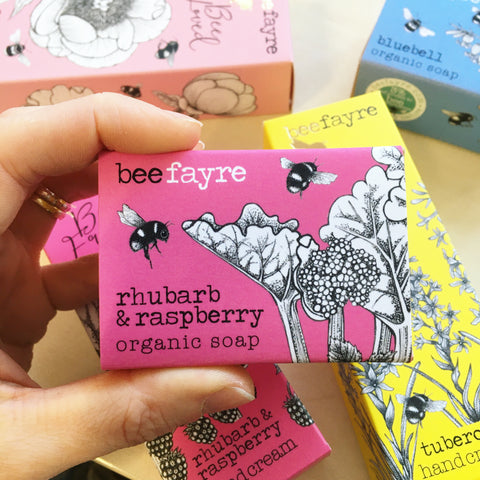 Rhubarb Raspberry Organic Soap Bar