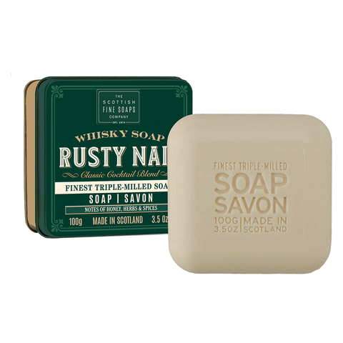 Rusty Nail Whisky Cocktail Soap in a Tin