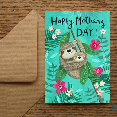 Mum & Baby Sloth Mothers Day Card
