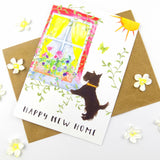 Happy New Home Scottie Greeting card