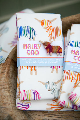 Hairy Coo Tea Towel
