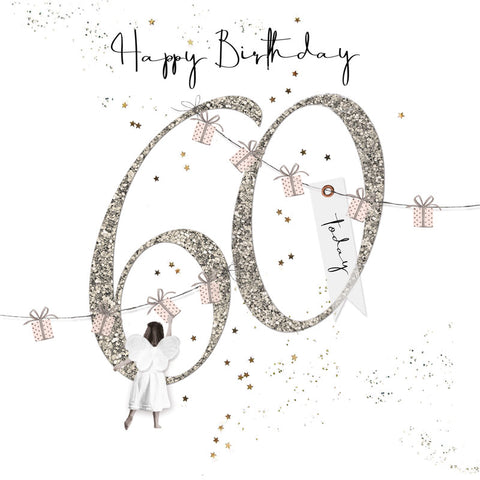Shimmer Ladies 60th Birthday Card