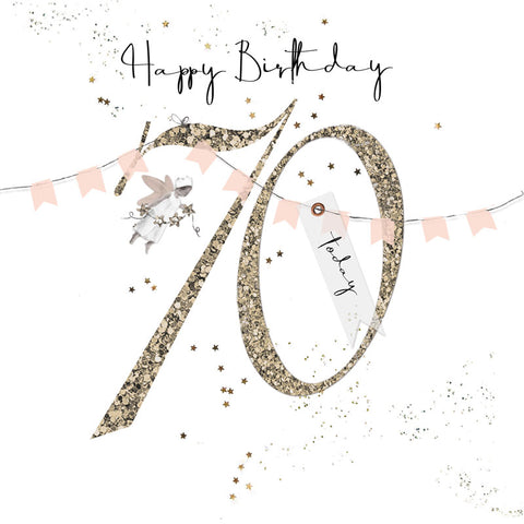 Shimmer Ladies 70th Birthday Card