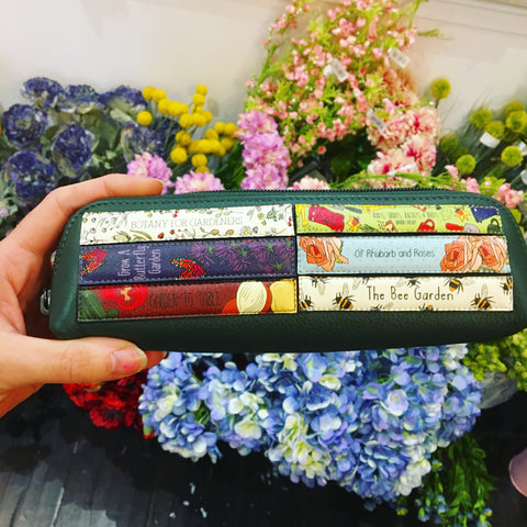 Green Fingers Bookworm Leather Pencil case
