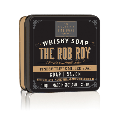 Rob Roy Whisky Cocktail Soap in a Tin