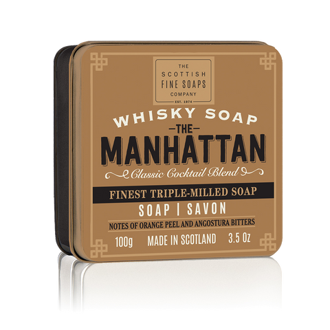 The Manhattan Whisky Cocktail Soap in a Tin