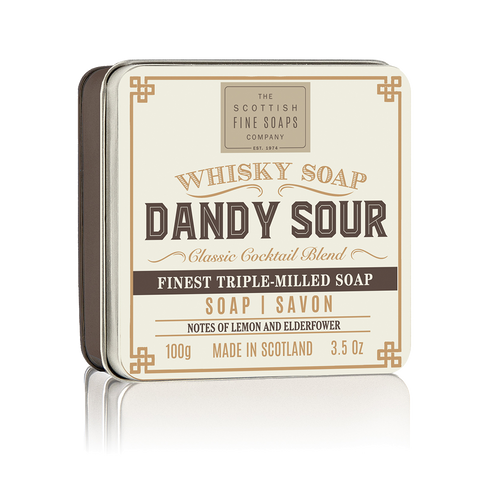 Dandy Sour Whisky Cocktail Soap in a Tin