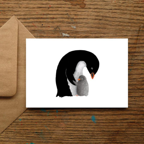 Baby Penguin Card, Cute New Baby Card