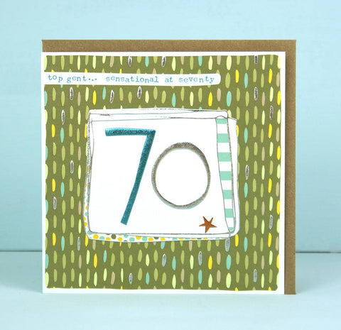 Male 70th Birthday Card