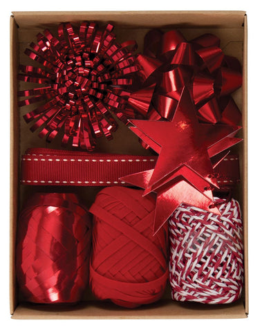 Christmas Wrapping Accessory Box Red