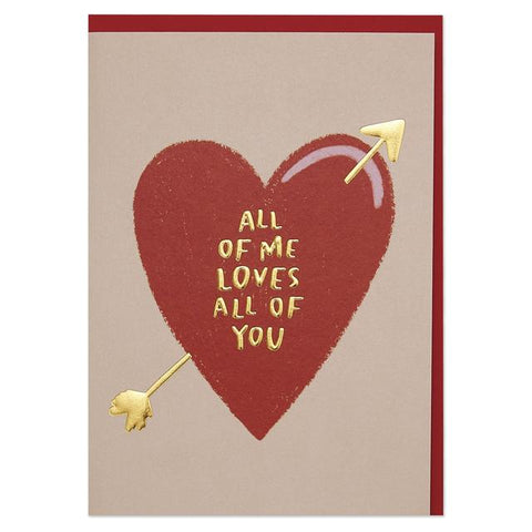 All of Me loves all of You Romantic Valentine's Day Card