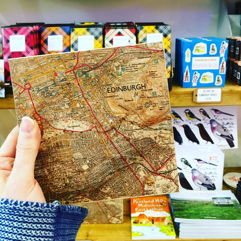 Edinburgh Wooden Map Chunk