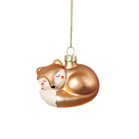BABY FOX SHAPED BAUBLE