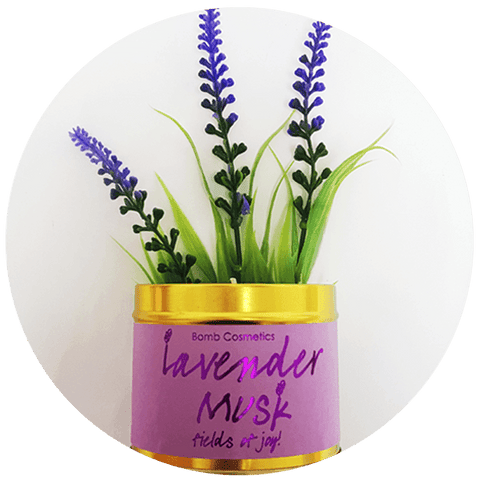 Lavender Musk Scented Tin Candle