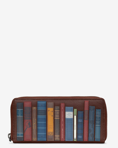 Bookworm Brown Leather Baxter Purse