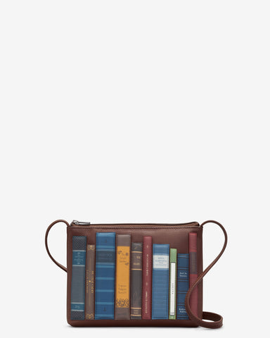 Bookworm Brown Leather Cross Body Bag