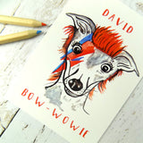 Cute Funny David Bow-Wowie Dog Postcard