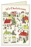 Snowy Christmas Village Box of 10 Christmas Cards